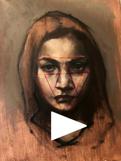 Power-of-Triangles in portrait drawing