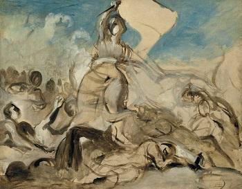 Delacroix Liberty study