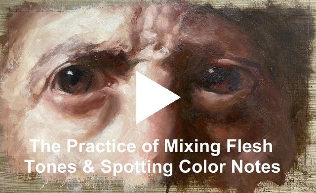 Practice of Mixing Flesh Tones