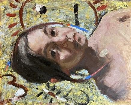 Pochade portrait painting