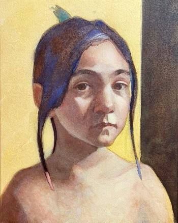 watercolor portrait 6