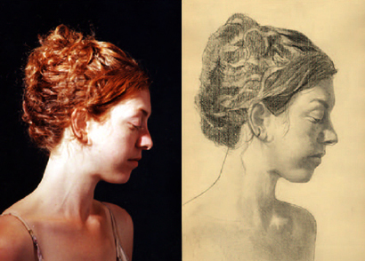 Portrait Drawing Lessons - Drawing Hair 4