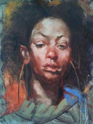 Painting portraits alla prima