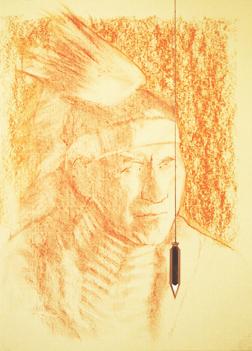 Portrait drawing lessons - Correcting sanguine conte 8