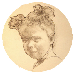 Portrait Drawing Lessons: Children-Tondo-7