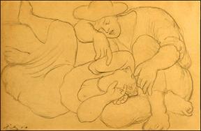 Portrait Drawing Lessons - Picasso - Les Moissonneurs
