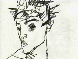 Portrait Drawing Lessons - Egon Schiele - Self Portrait