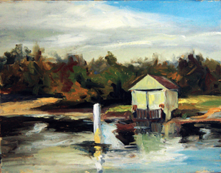 Michael Britton, Boat House - Yamba Harbour