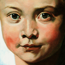 Portrait painting lessons - detail of Clara Serena Rubens