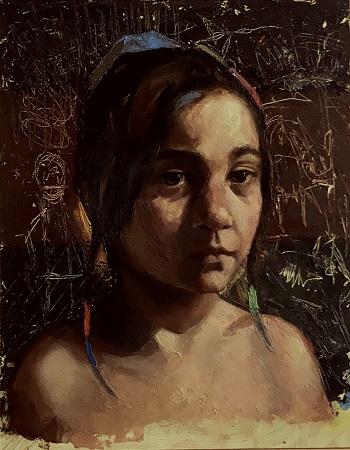 Oil painting art class