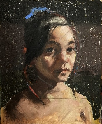 Pochade for portrait painting