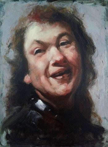 alla prima portrait painting Rembrandt