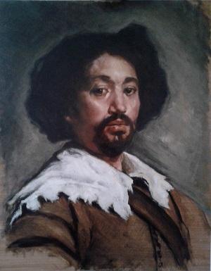 Velazquez portrait of Juan de Pareja workshop