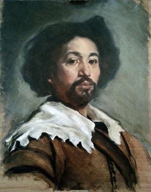 Velazquez portrait of Juan de Pareja workshop - dead coloring