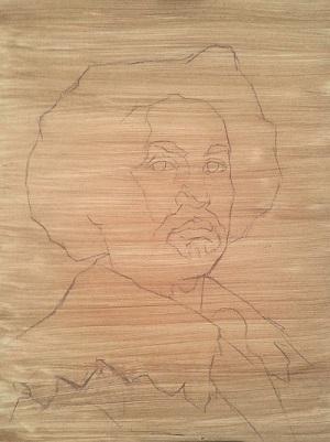 Velazquez portrait of Juan de Pareja workshop - imprimatura
