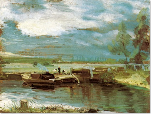 John Constable, Barges on the Stour, 1811