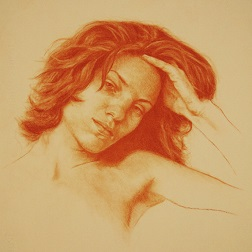 Portrait Drawing Lessons - Verna in Conte