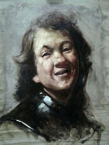 Rembrandt Laughing portrait painting class