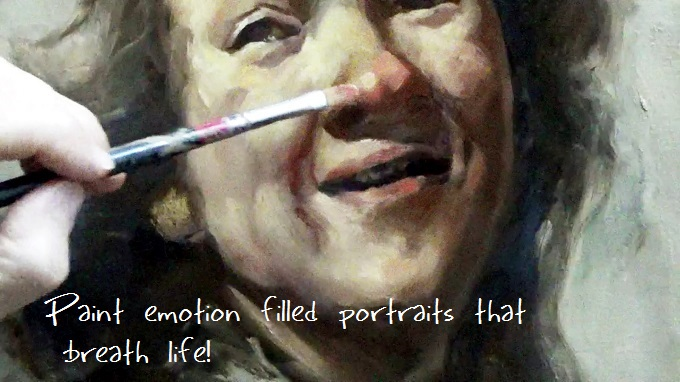 learn to paint portraits in oil alla prima